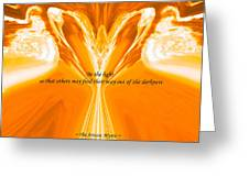 Be The Light - Josea Golden Greeting Card