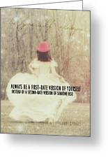Be Yourself Quote Greeting Card