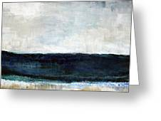 Beach- Abstract Painting Greeting Card by Linda Woods