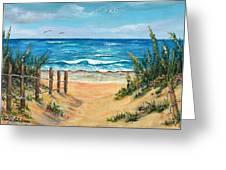 Beach Access Greeting Card