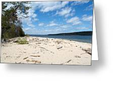 Beach And A Lake Greeting Card