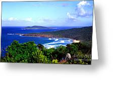 Beach And Cayo Norte From Mount Resaca Greeting Card