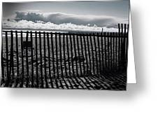 Beach And Fence Greeting Card