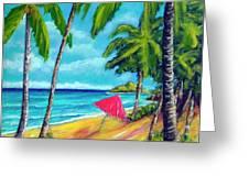 Beach And Mokulua Islands  #368 Greeting Card