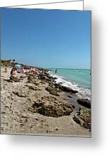 Beach And Rocks Greeting Card