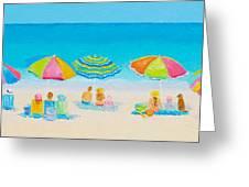 Beach Art - Crazy Lazy Summer Days Greeting Card