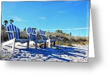 Beach Art - Waiting For Friends - Sharon Cummings Greeting Card