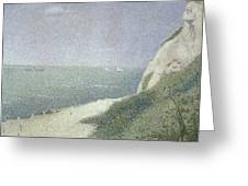 Beach At Bas Butin Greeting Card by Georges Pierre Seurat