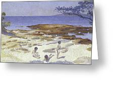 Beach At Cabasson Greeting Card