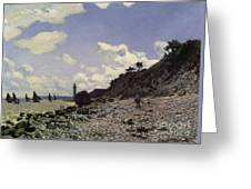 Beach At Honfleur Greeting Card