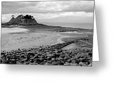 Beach At Low Tide In Brittany Greeting Card