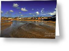 Beach At Perranporth Greeting Card