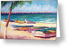 Beach At Progreso Greeting Card