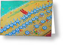 Beach At Sorrento Greeting Card