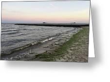 Beach At Sunset Greeting Card