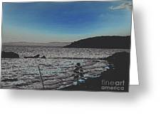 Beach At Twilight Greeting Card