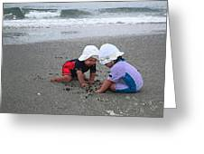 Beach Babies Greeting Card by Paul Barlo