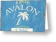 Beach Badge Avalon Greeting Card