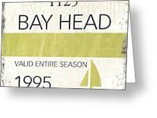 Beach Badge Bay Head Greeting Card