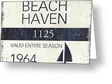 Beach Badge Beach Haven Greeting Card