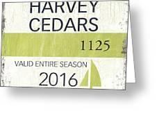 Beach Badge Harvey Cedars Greeting Card