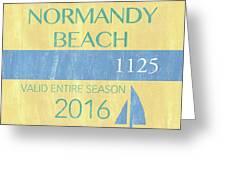 Beach Badge Normandy Beach 2 Greeting Card