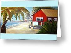 Beach Ball Resort Greeting Card