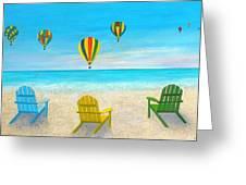 Beach Balloon Festival Greeting Card
