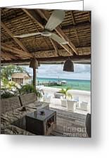 Beach Bar In Sok San Area Of Koh Rong Island Cambodia Greeting Card