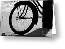 Beach Bicycle Greeting Card