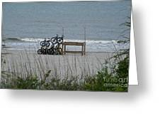 Beach Bicycles Greeting Card