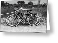 Beach Bicycles Greeting Card