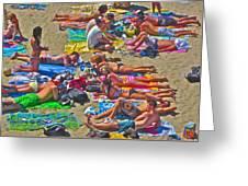 Beach Blanket Bingo Greeting Card