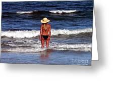 Beach Blonde - Digital Art Greeting Card