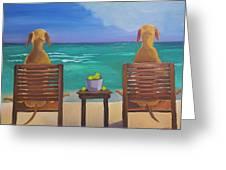 Beach Blondes Greeting Card