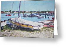 Beach Boat Under Cover Greeting Card