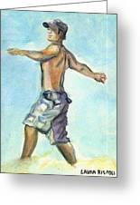 Beach Boy Greeting Card