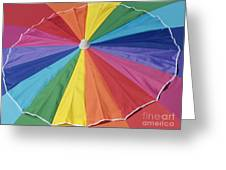 Beach Brolly Greeting Card