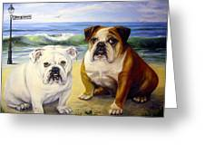 Beach Bullies Greeting Card