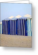 Beach Cabanas Greeting Card