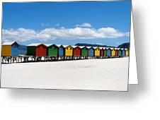 Beach Cabins  Greeting Card by Fabrizio Troiani