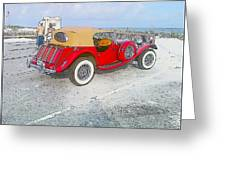 Beach Car Greeting Card