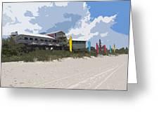 Beach Casino Greeting Card
