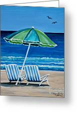 Beach Chair Bliss Greeting Card by Elizabeth Robinette Tyndall