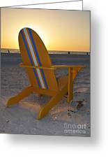 Beach Chair Greeting Card