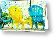 Beach Chair Print Greeting Card