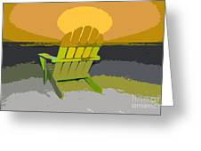 Beach Chair Work Number Seven Greeting Card