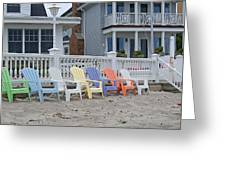 Beach Chairs - Awaiting Summer Greeting Card