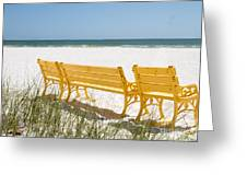 Beach Chairs By Darrell Hutto Greeting Card