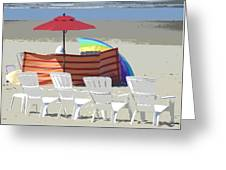 Beach Chairs Greeting Card by Lori Seaman